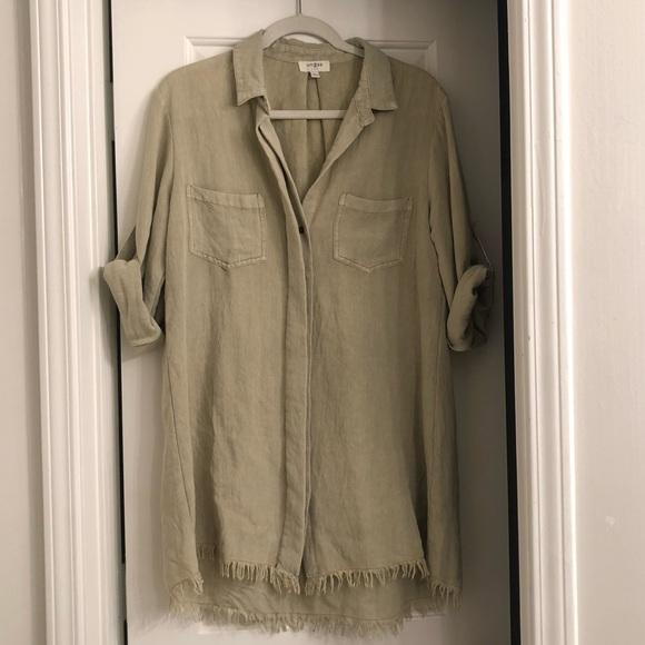 Umgee Dresses & Skirts - Green Boyfriend Tshirt Dress